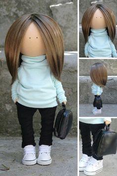 Teenager doll Fabric doll Handmade doll Soft от AnnKirillartPlace