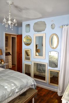 Wall Of Mirrors diy wall of mirrors. from vintage revivals: http://vintagerevivals