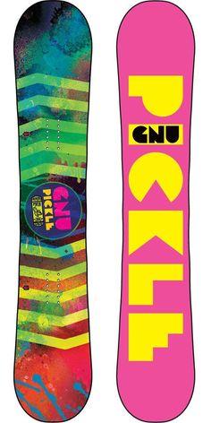 Gnu Ladies Pickle PBTX Snowboard - Women's