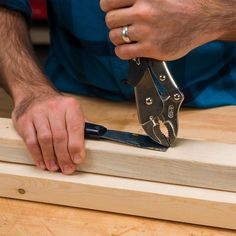 When using Vise-Grip pliers to pull nails, it's important to lock the jaws onto the nail as close as possible to the material you're pulling the nail from. That way, you'll get the most leverage out of the curve of the tool. Also, use a putty knife or piece of sturdy scrap material under the head of the pliers if you wish to salvage the material after removing the nails.