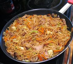 Yakisoba Noodles with Pan Seared Pork Tenderloin, Fresh Cabbage, Carrots, Shallots and Bean Sprouts – Karista's Kitchen