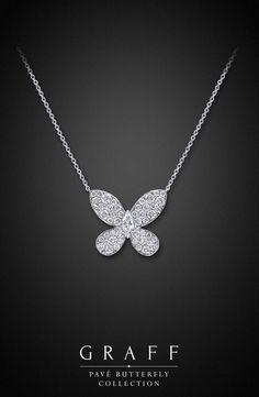 Graff Diamonds: Pavé Butterfly Pendant