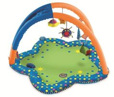 Manhattan Toy Whoozit Tummy Time Arches Playmat by Manhattan Toy. $52.87. This three dimensional tummymat will stimulate babies visual senses. Toys are attached at differing heights to encourage baby to reach and explore. From the Manufacturer Laying on your tummy has never been more fun. This entertaining playmate has countless features that will keep your child busy and happy. This soft mat features friendly animal and plant images along with vibrant and del...