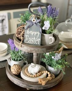 Your place to buy and sell all things handmade Happy Easter Tag / Easter Signs / Farmhouse Decor / Spring Decor / Wood Tags / Tiered Tray Decor Easter Tag, Happy Easter, Easter Bunny, Decoracion Habitacion Ideas, Wood Tags, Seasonal Decor, Holiday Decor, Tray Styling, Spring Home Decor