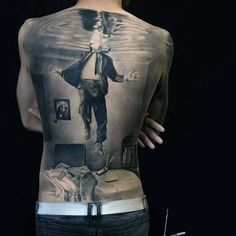 Back Tattoo Best Tattoo Ideas Gallery Hello! Here we have nice picture about back tattoo designs. We hope these photos can be your li. Dope Tattoos, Bild Tattoos, Great Tattoos, Body Art Tattoos, Sleeve Tattoos, Crazy Tattoos, Tatoos, Back Tattoos For Guys, Full Back Tattoos