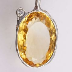 Citrin Diamant Anhänger