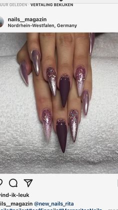 Oh mein Gott – Trendy Nails Glam Nails, Stiletto Nails, Beauty Nails, Aycrlic Nails, Cute Nails, Hair And Nails, Coffin Nails, Fabulous Nails, Gorgeous Nails