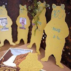 grizzly bear hug letterpress diecut card