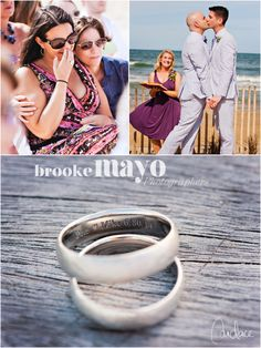 Outer Banks destination wedding, Sanderling resort, Sanderling Wedding, Duck beach wedding, same-sex wedding, Beach ceremony, rings, wedding bands, Candace Owens, Brooke Mayo Photographers, www.brookemayo.com