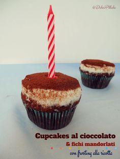 #Cupcakes al cioccolato e fichi mandorlati con #frosting alla ricotta! #dolcipilloleperilpalato http://dolcipilloleperilpalato.blogspot.it/2014/09/cupcakes-al-cioccolato-e-fichi.html