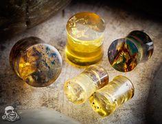 Chiapas amber plugs by Diablo Organics.