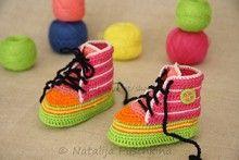 God on carpet only, slippery on tile, etc. floors. -- Baby Booties Crochet pattern - Shoes crochet