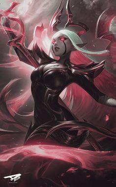 Check out T-Ara @ Iomoio Dark Fantasy Art, Fantasy Demon, Fantasy Art Women, Fantasy Girl, Fantasy Artwork, Final Fantasy, Lol League Of Legends, Akali League Of Legends, League Of Legends Characters