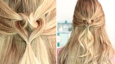 Heart hairstyle for Valentine's Day ❤ Medium long hair tutorial, easy an...