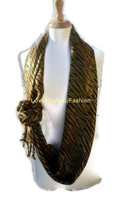 Infinity Scarf Circle Fashion Scarf Shabby by Love2Style4UFashion, $18.00