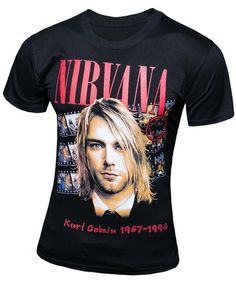 3D Kurt Cobain Printed Round Neck Short Sleeve T-Shirt For Men #shoes, #jewelry, #women, #men, #hats, #watches
