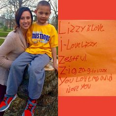 "Lizzy and Nessiah have been a mentor and little buddy pair for the past three years.  Today Nessiah wrote her the sweetest note and we had to share it!  ""Lizzy is love. I love Lizzy. Zestful. Zigzag to Lizzy. You love me and I love you."" Thank you for being such a light in Nessiah's life Lizzy!  Clearly he adores you.  #mentoringmilestones #mentorsmatter #CollegeMentorsForKids #CollegeMentors by ilstu_cmfk"