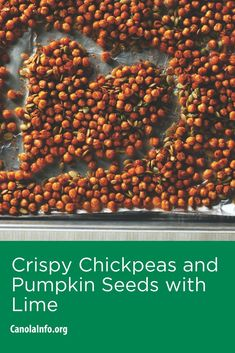 Crispy Chickpeas and Pumpkin Seeds with Lime Lunch Snacks, Yummy Snacks, Healthy Snacks, Healthy Recipes, Chickpea Recipes Vegetarian, Sport Diet, Crispy Chickpeas, Good Sources Of Protein, Easy Weeknight Meals