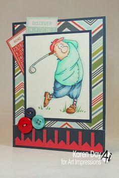 Gordon Golfer Set (sku#4325) from Art Impressions.  Great masculine golf card!