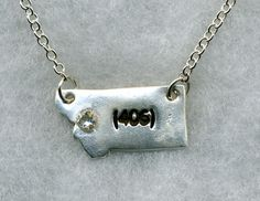 State of Montana  silver 406 pendant on a by DanizDesignz on Etsy, $40.00