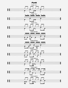Drum Sheet Music, Drums Sheet, Learn Drums, How To Play Drums, Drum Lessons, Music Lessons, Drum Basics, Drum Rudiments, Drum Notes
