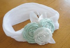 Fun new baby headbands in my etsy shop today!  Light Aqua Nylon Baby Headband. $12.50, via Etsy.