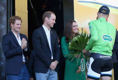 05/07/2014..The Duke & Duchess of Cambridge And Prince Harry Attend The Tour De France.