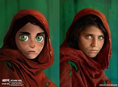 """""""Afghan girl. Photo by @stevemccurryofficial ♥  I still couldn't answer all the emails. If you sent an email to mz09art@gmail.com and I didn't answer yet,…"""""""