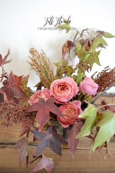 Fall is my favorite season for florals, foliage, and berries. I'm drawn to the warm, rich colors and all the different textures that comes along with the season. My arrangements tend to be a bit more wild in the fall, what with all of the gorgeous foliage right at my fingertips (my backyard, or my…
