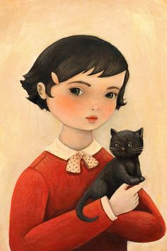 Once I get a pet for myself, I would want to have a portrait like this hanging on the wall