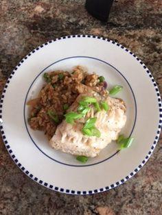 Teriyaki Marinated Black Cod with Quinoa Fried Rice.  Amazing!
