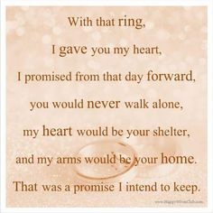 Absolutely!!! When it comes to my amazing husband and 'our marriage' I will definitely keep my vow to him forever!!! <3