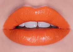 By Lime Crime. Orange tones are all the rage for spring.True, luminous orange without red undertones. Recklessly loaded with pigment for maximum impact, Lime Crime lipstick.