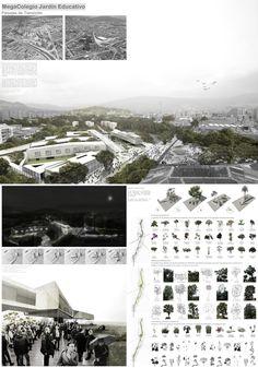 MegaColegio Jardín Educativo Ana Díaz, equipamiento educacional a escala urbana en Medellín,Lámina 03. Image Courtesy of Equipo desarrollador