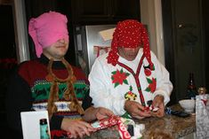 Blindfolded gift wrapping