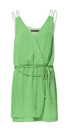 DOUBLE STRAP WRAP DRESS from Zara