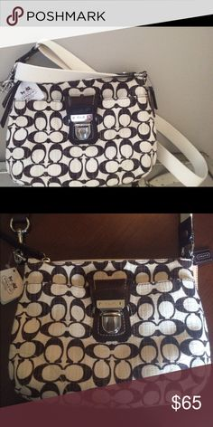 New with tags Authentic Coach Purse - Crossbody Brown and cream Coach purse.  Authentic & New with Tags! Brand New Condition! Coach Bags Crossbody Bags