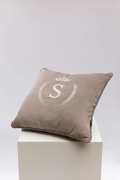 Excited to share the latest addition to my #etsy shop: Monogram Pillow | Personalized Cushion | Luxury Pillow | Handmade Cushion | Initial Cushions | Personalized Pillow | Decorative Initial Cushions, Monogram Pillows, Personalised Cushions, Handmade Cushions, Personalized Pajamas, Gifts For My Boyfriend, Velvet Cushions, Blue Velvet, Mother Gifts
