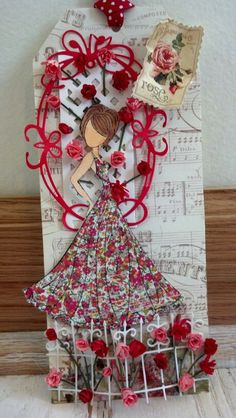 Beautiful prima doll tag ❤  This is beautiful and very creative!!