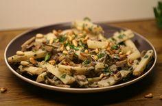 schorseneren met champignons en knoflook