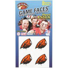 Oregon State Beavers 8-Pack Waterless Face Tattoos - $3.99