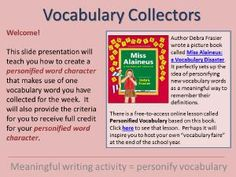 Always Write: Mr. Harrison's Vocabulary Collecting Resources