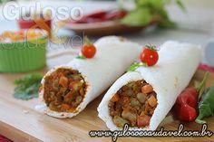 Burrito de Tapioca » Carnes, Receitas Saudáveis, Sanduíches » Guloso e Saudável