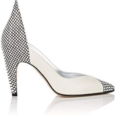 Givenchy Women s Stamped Leather Pumps. Givenchy s pointed-toe pumps are  composed of white smooth leather and white and black snakeskin-stamped  leather. 2445800dd6cb