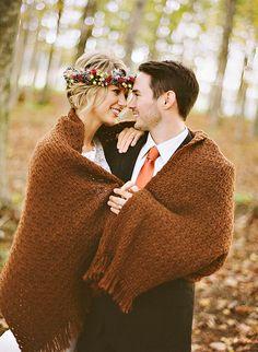 cuddling is my favorite thing http://www.weddingchicks.com/2013/12/31/bright-bronze-wedding-inspiration/