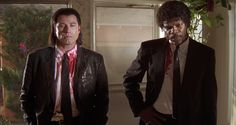 John Travolta & Samuel L. Jackson - one's comeback role, the other's star-making turn PULP FICTION directed by Quentin Tarantino (1994)