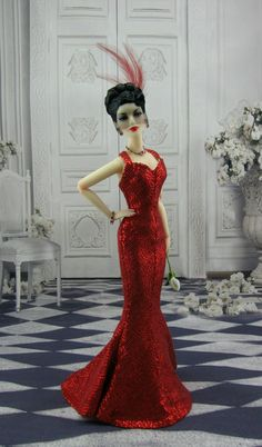 The Studio Commissary: New pic for theme! Madra in The Bride Wore.... >>>  -   Posted by Mike on June 9, 2017, 6:47 pm.  RED! An homage to the Joan Crawford film. Tonner gown, Ilaria wig and FM jewelry.
