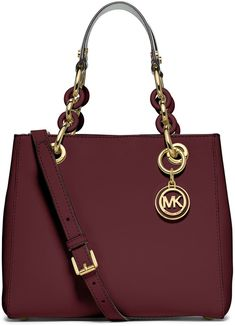 MICHAEL Michael Kors Cynthia Small North-South Satchel Bag, Merlot