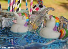 Glitter Lambs: DIY Shabby Chic Unicorn Birthday Party