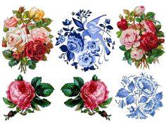 Temporary Tattoo Set of 6 Vintage Floral OR Set от TattooNbeyond